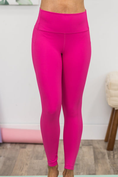 Solving Problems Leggings in Fuchsia - Filly Flair