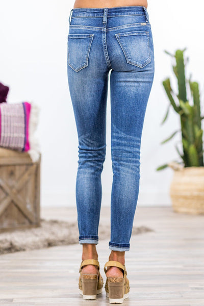 Kenna Kan Can Dark Wash Skinny Jeans - Filly Flair