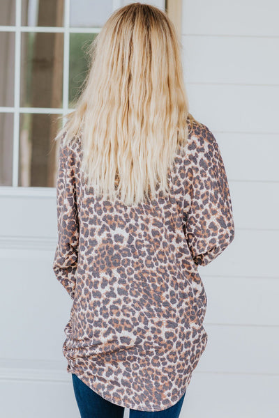 One Of Those Girls Animal Print Open Front Cardigan in Brown - Filly Flair
