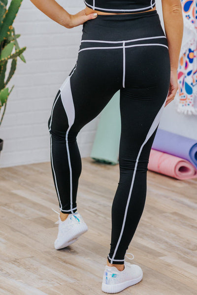 It's A Party Four-Way Stretch Tummy Control Leggings in Black - Filly Flair
