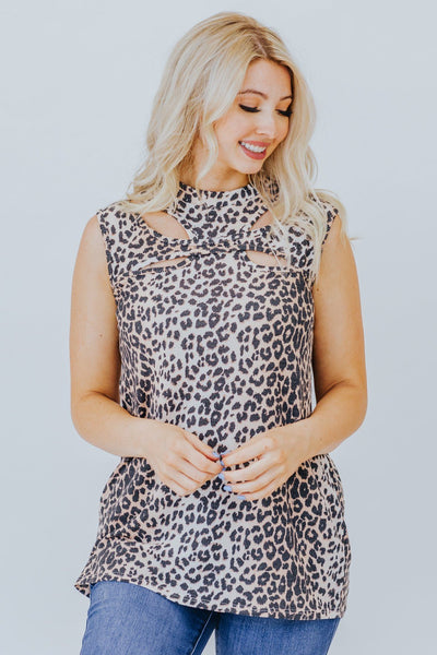 Love Is a Blessing Top in Leopard Print - Filly Flair