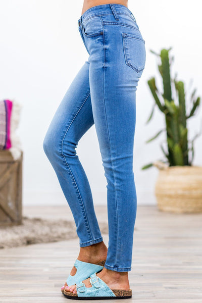 Kelsea Kan Can Light Wash Skinny Jeans - Filly Flair