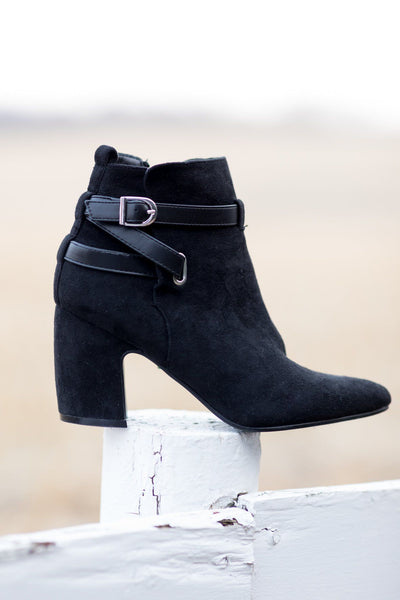 "Hold My Hand 3"" Heel Boot in Black - Filly Flair"