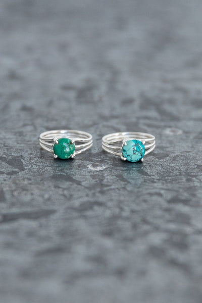 Turquoise Sterling Silver Ring - Filly Flair