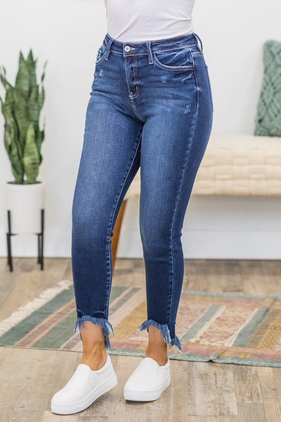 Almost Had It Kan Can Jeans In Dark Wash - Filly Flair