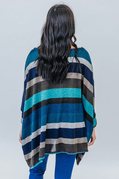 Me And You Until The End Multicolored Striped Top In Teal - Filly Flair