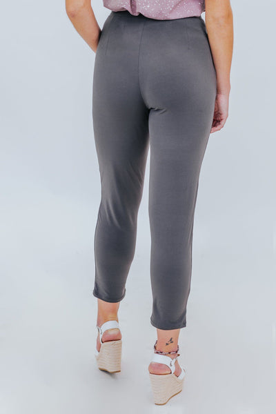 Just For Kicks Dress Pants in Ash Grey - Filly Flair