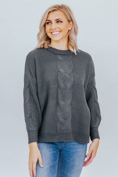 No Judgement Sweater in Ash Grey - Filly Flair
