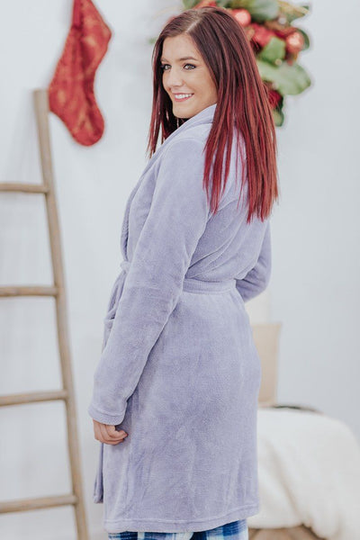 *DEAL* Feeling Of Home Fleece Robe in Lilac - Filly Flair