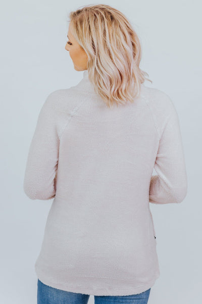 Never A Dull Moment With You Cross Neck Pull Over Sweater in Off White - Filly Flair