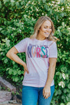 """Blessed To Be Called NURSE"" Short Sleeve Top in Pink - Filly Flair"