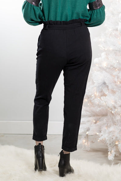 The Right Stuff Paper Bag Pants in Black - Filly Flair