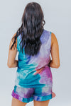 What About Us Tie Dye Lounge Wear Top in Multi - Filly Flair