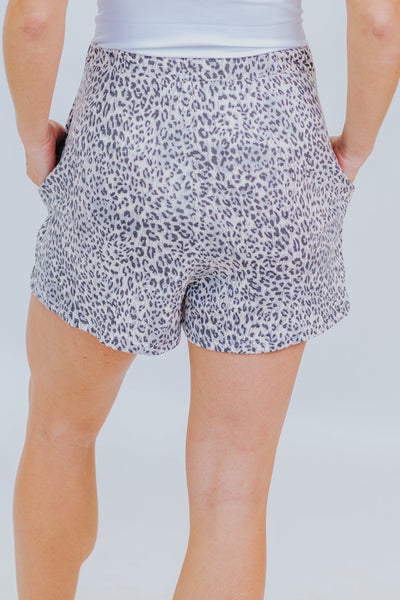 It Does To Me Leopard Print Shorts in Light Taupe - Filly Flair