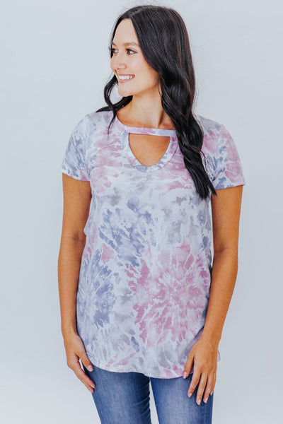 Drive Me Crazy Multicolored Tie Dye Tee - Filly Flair