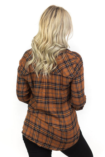 If You Had My Love Flannel in Toffee - Filly Flair