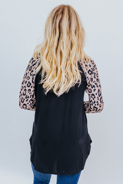Everywhere To Me Animal Print Top in Black and Mocha - Filly Flair