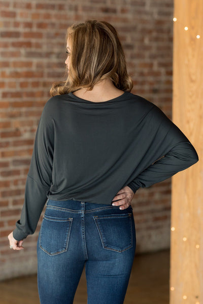 Moment Like This Top in Charcoal - Filly Flair
