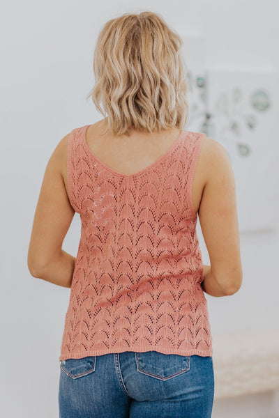 Always Hold On Knit Sleeveless Tank Top in Dusty Rose - Filly Flair