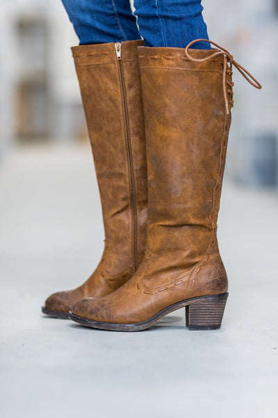 Easy Come Easy Go Tall Boots in Light Brown - Filly Flair