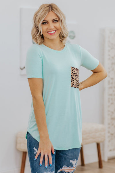 Keep Me Here Leopard Print Color Block Top - Filly Flair