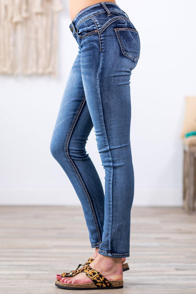 New Girl Medium Wash Low Rise Skinny Jeans - Filly Flair