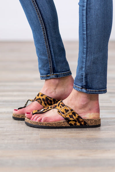Feel the Wild Leopard Sandals - Filly Flair