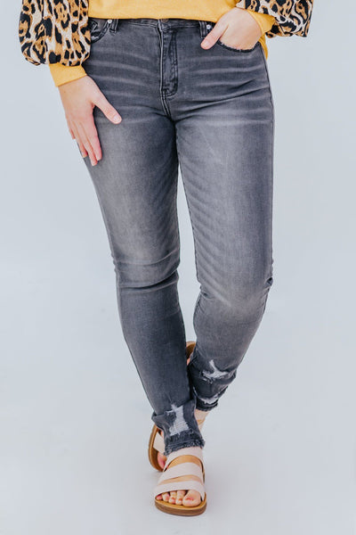 Katlynn KanCan High Rise Super Skinny Jeans in Grey - Filly Flair