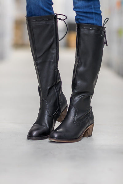 Easy Come Easy Go Tall Boots in Black - Filly Flair