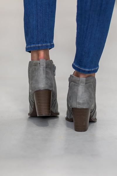 Tyson Distressed Wash Bootie in Ash Grey - Filly Flair