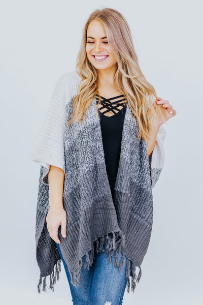 In The Air Tonight Cardigan in Grey - Filly Flair