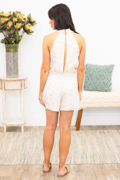 Effortless Romper In Floral Ivory - Filly Flair