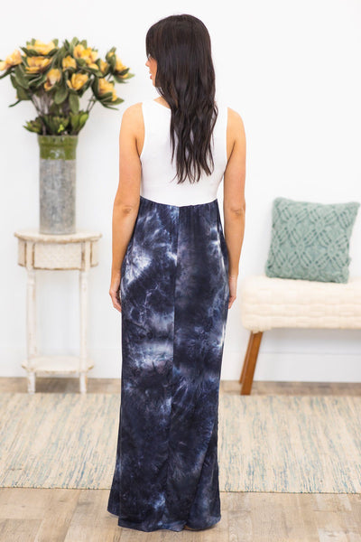 I'm In Love With You Tie Dye Maxi Dress in Black - Filly Flair