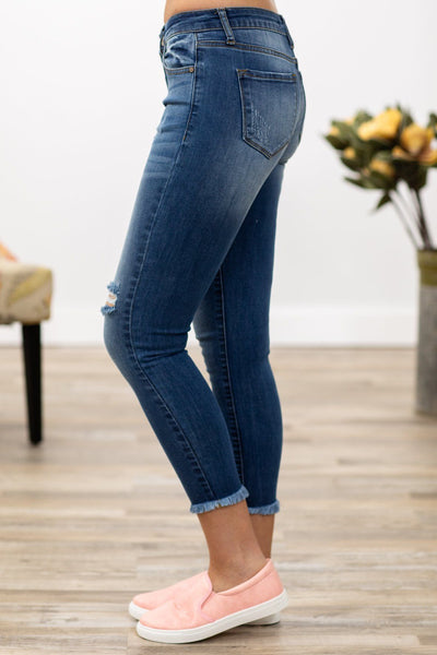 Kyla Kan Can Medium Wash Distressed Skinny Jeans - Filly Flair