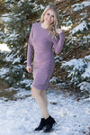 Sing It Out Loud Long Sleeve Dress in Pale Purple - Filly Flair