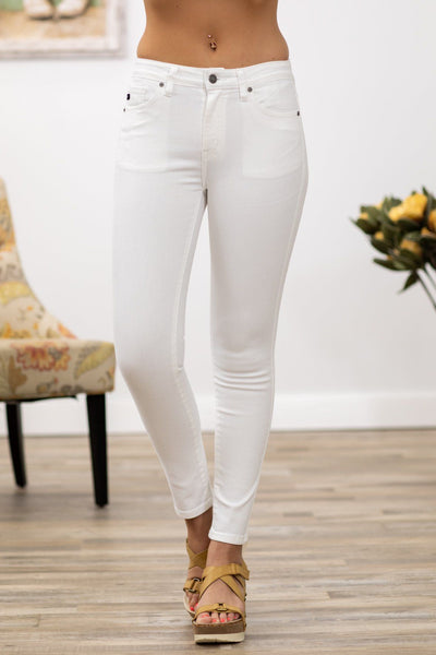 Katarina Kan Can High Rise Skinny Jeans in White - Filly Flair
