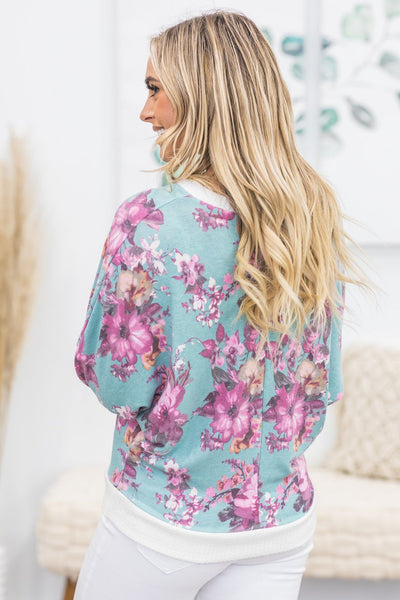 Bound To You Floral Top in Sage - Filly Flair