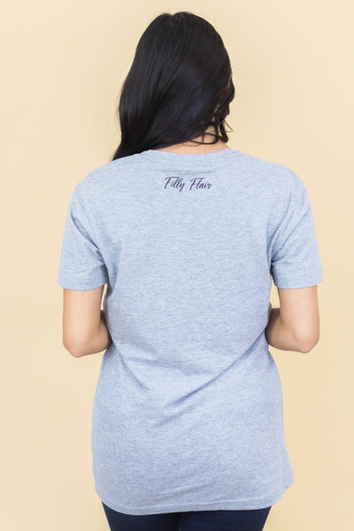 "Filly Flair Exclusive: ""Hello Fall"" Graphic Tee in Grey - Filly Flair"