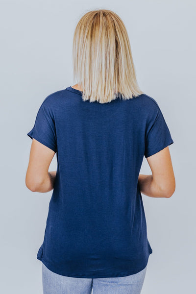 Never Basic Tee In Navy - Filly Flair