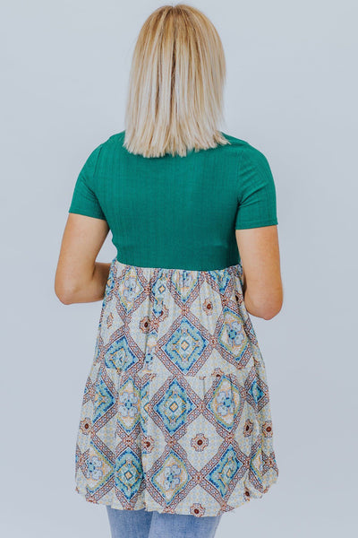 Cut Me Loose Tunic in Green - Filly Flair
