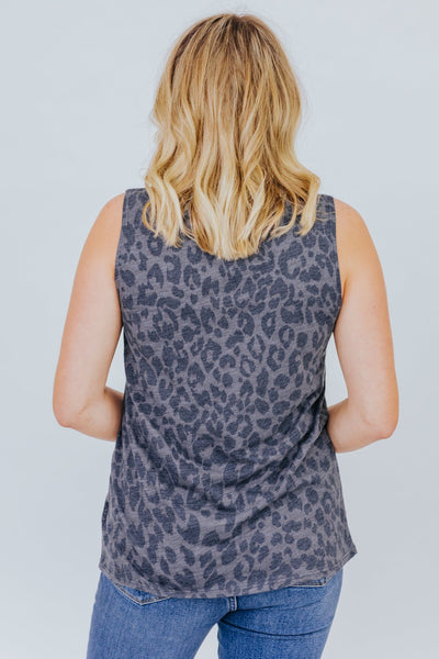 Power Through It Tank in Charcoal - Filly Flair