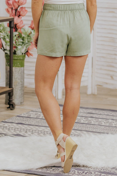 Love Your Haters Shorts in Sage - Filly Flair
