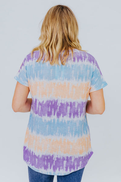 Summer Rays Tee In Sky Blue Tie Dye - Filly Flair