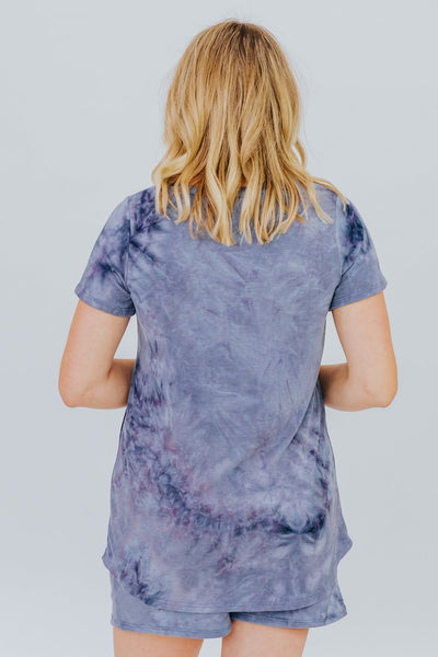 Dark Before Dawn Top in Blue - Filly Flair