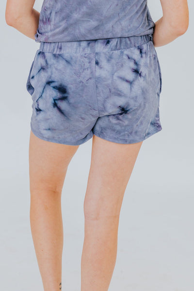 Dark Before Dawn Shorts in Blue - Filly Flair