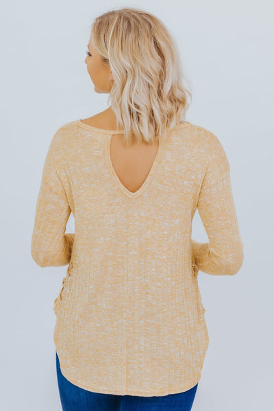 Best Part Of Me Long Sleeved Top in Honey - Filly Flair