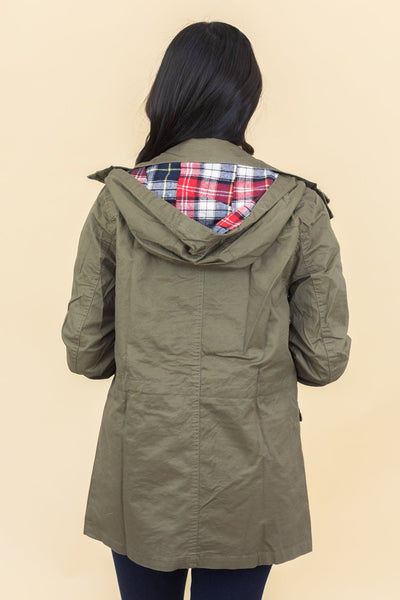 Autumn Ready Jacket in Olive - Filly Flair