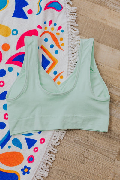 SWIM: Reasons To Go Palm Leaf Top in Turquoise - Filly Flair