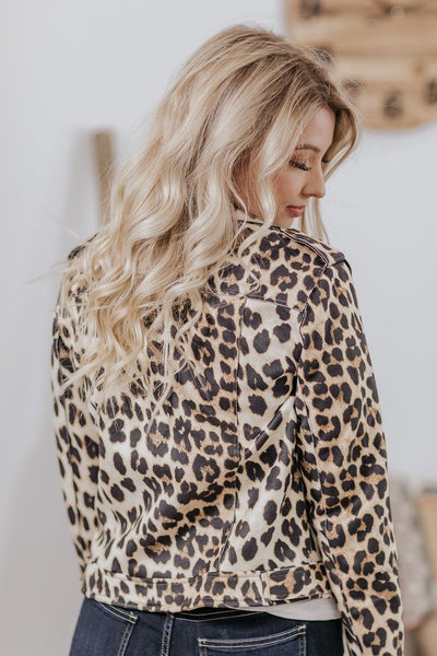 Welcome To My Life Leopard Lapel Jacket Long Sleeve in Leopard Brown - Filly Flair