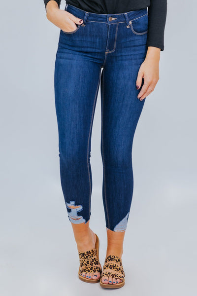 What's My Name Curvy Mid Rise Skinny Jeans - Filly Flair